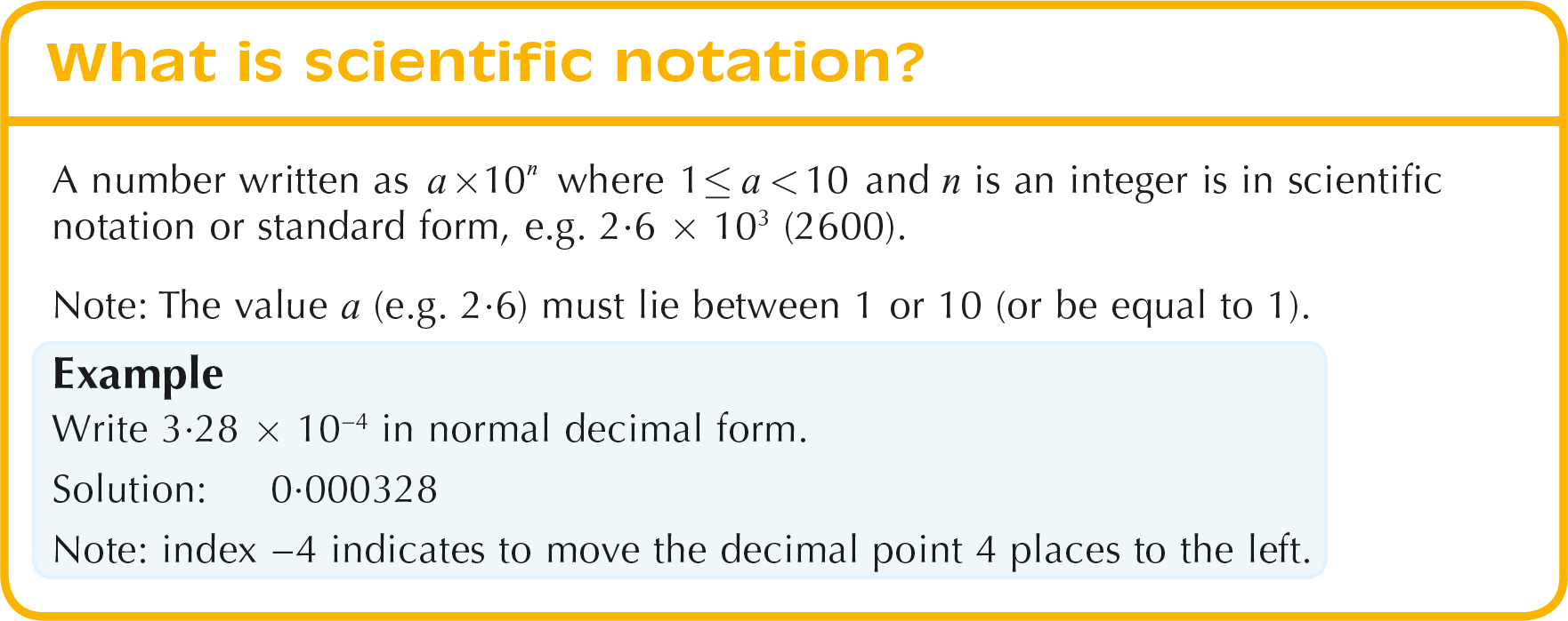 Working with indices including scientific notation what is scientific notation notes falaconquin